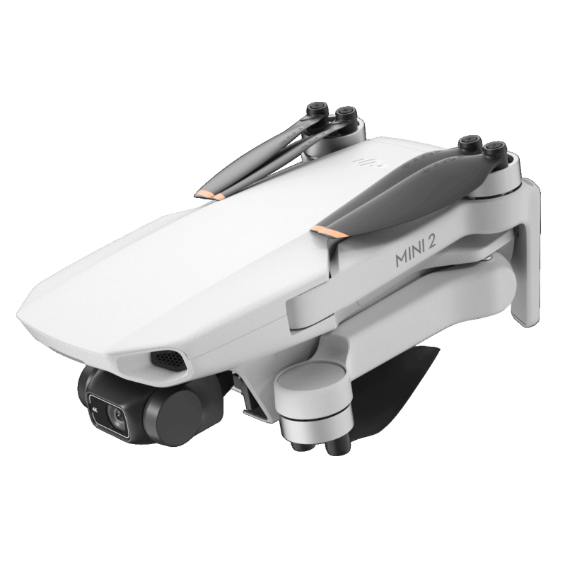 Shows the DJI Mini 2 with its arms folded