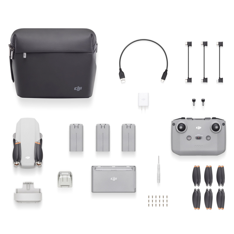 Shows the contents of the DJI Mini 2 Combo